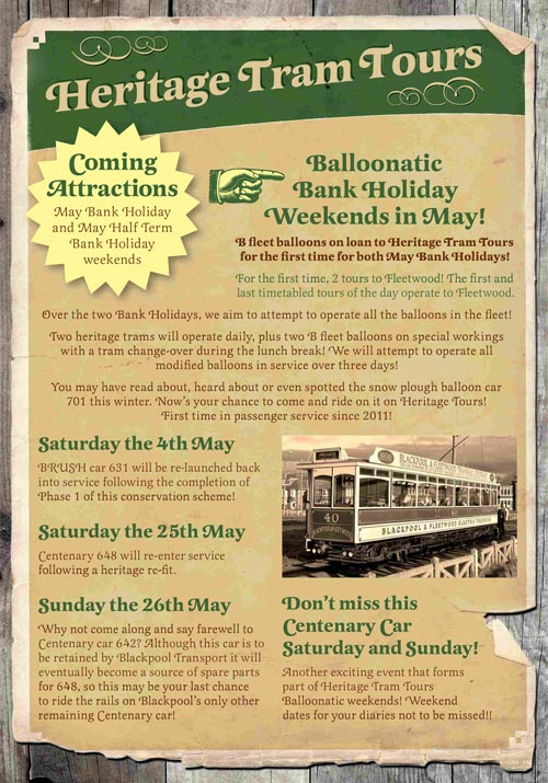 Blackpool Heritage Trams May 2013