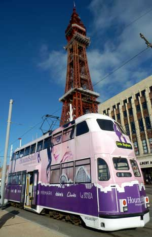 Blackpool Tower and Tram