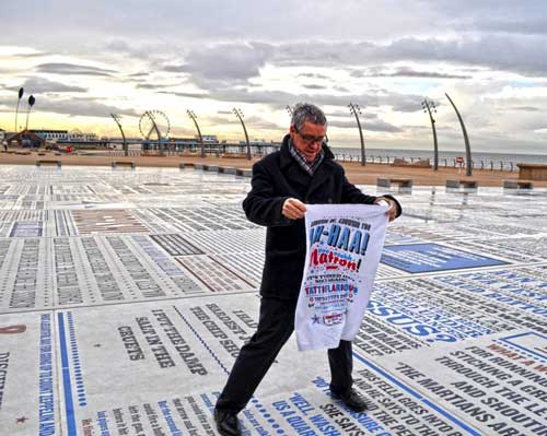Griff Rhys Jones on the Comedy Carpet Blackpool
