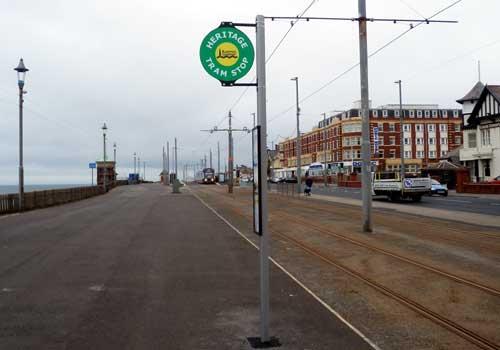 Blackpool Heritage Tram Stop