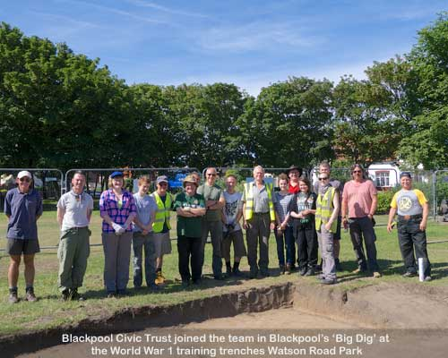 Blackpool's Big Dig Volunteers at the World War 1 Training Trenches