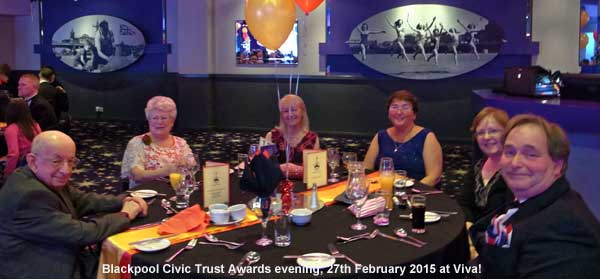 Blackpool Civic Trust Awards evening, 27th February 2015 at Viva!
