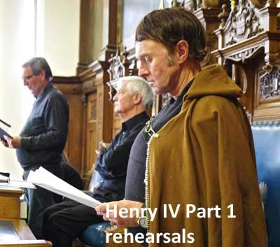 Henry IV Part 1 rehearsals