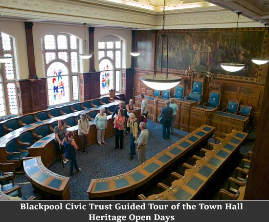 Blackpool Civic Trust Guided Tour of the Town Hall Heritage Open Days