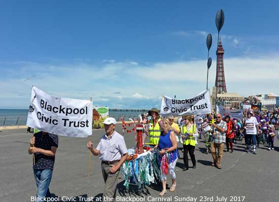 Blackpool Civic Trust at Blackpool Carnival 2017