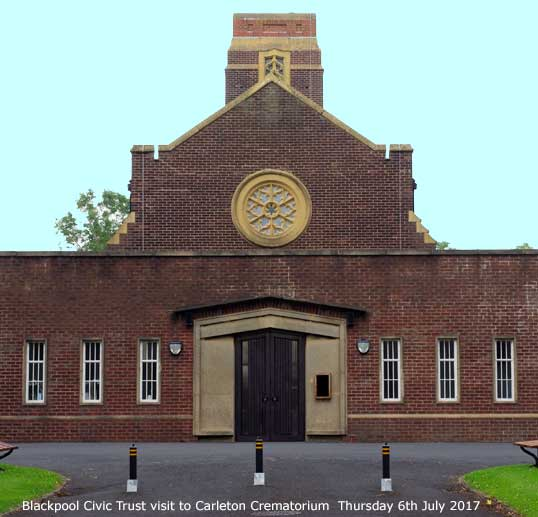 Blackpool Civic Trust visit to Carleton Crematorium Thursday 6th July 2017