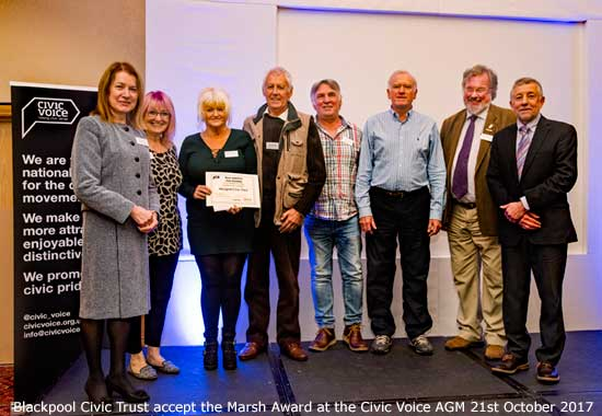 Blackpool Civic Trust win the Marsh Award 2017 at the Civic Voice AGM in Wakefield