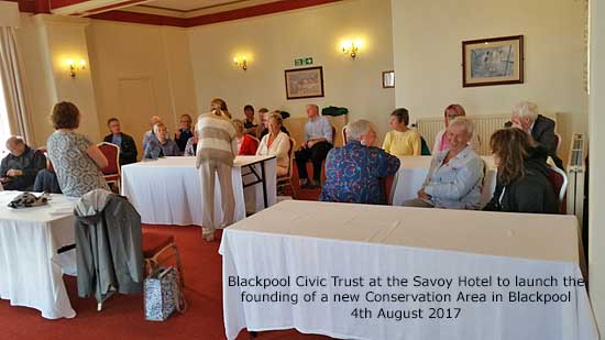 Launch meeting of the proposed new conservation area in Blackpool
