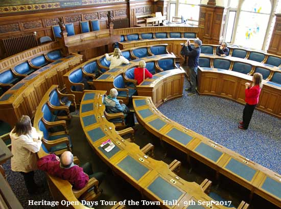 Heritage Open Days Tours of the Town Hall - 9th Sept 2017