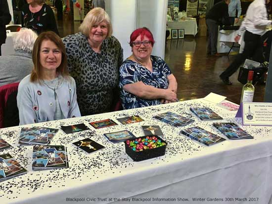 Blackpool Civic Trust at the Stay Blackpool Information Show March 2017 Blackpool Winter Gardens