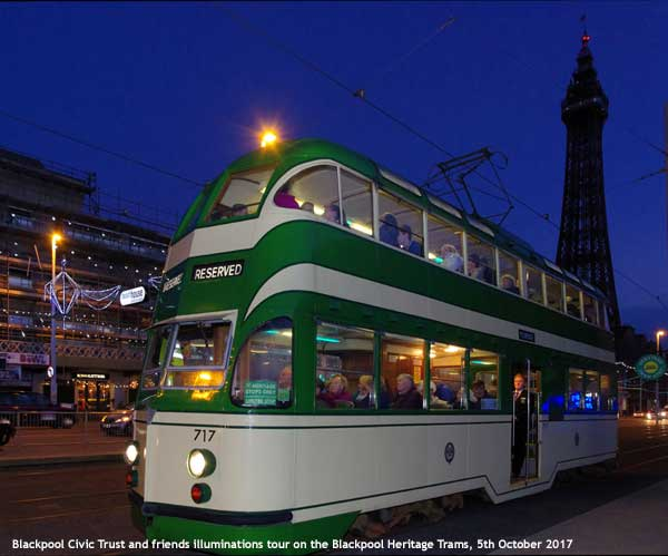 Blackpool Heritage Tram Tour 5th October 2017