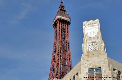 Blackpool Tower and the Woolworths building