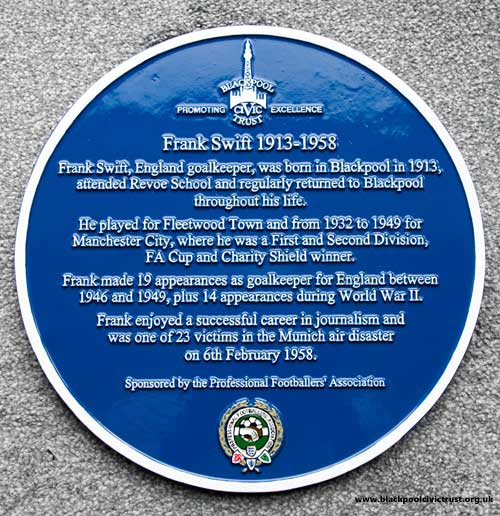 Frank Swift Blue Plaque