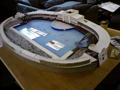 model of Blackpool Open Air Swimming Pool